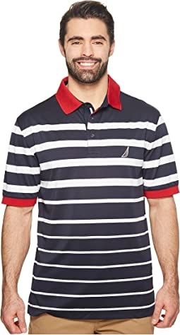 Nautica Big & Tall Big & Tall Engineered Stripe Polo