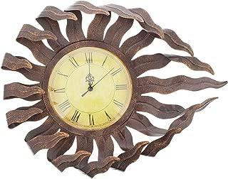 Distinctive Designs Sun Face Wall Clock Distressed Metal