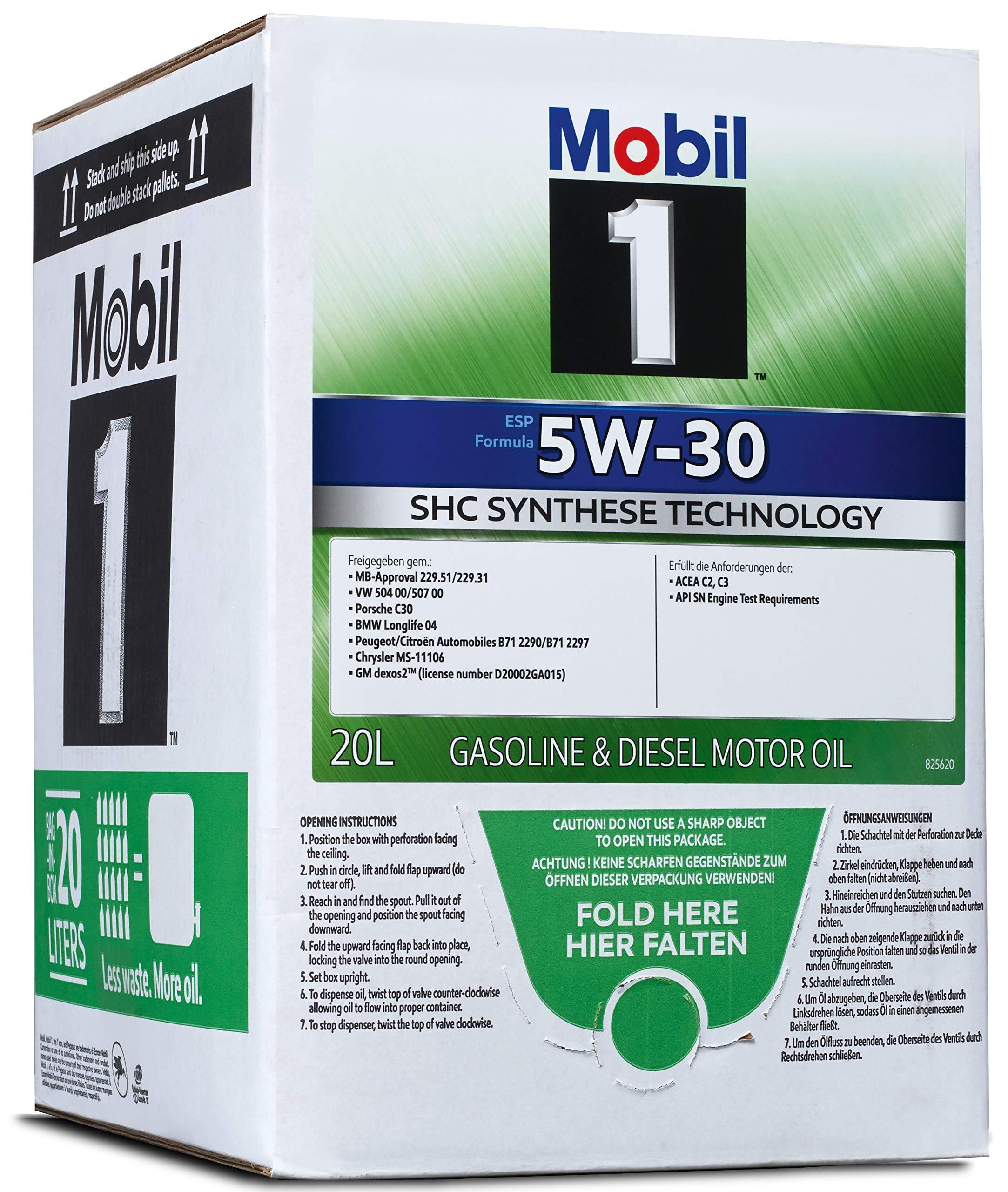 Mobil 1 ESP 5W30 Bag-In-Box 154274 Aceite para Motor: Amazon.es ...