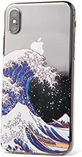 ZUKOU Phone case for iPhone X Clear Protective Soft TPU case with Design Japanese Art Ukiyo-e Printed The Great Wave Off K...