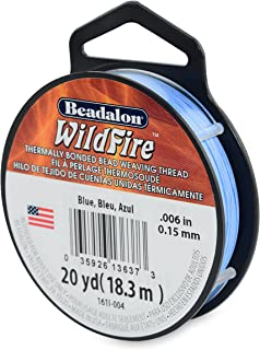 "Beadalon Wildfire 0.006"" Blue 20 yd Thermally Bonded Beading Thread"