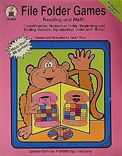 File Folder Games Reading and Math: Kindergarten Book 2