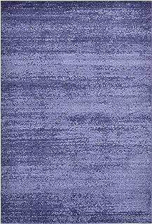 Unique Loom Del Mar Collection Contemporary Transitional Navy Blue Area Rug (6' 0 x 9' 0)