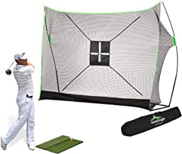 10 x 7ft Golf Net Bundle 4pc & 3pc   Professional Patent Pending Design   Dual-Turf Golf Mat, Chipping Target and Carry Bag   The Right Choice of Golf Nets for Backyard Driving & Golf Hitting Nets