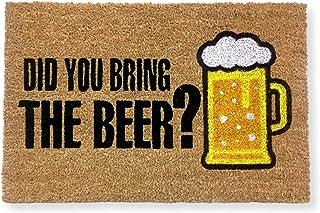 koko doormats felpudos Entrada casa Originales, Fibra de Coco y PVC, Felpudo Exterior Did You Bring The Beer?, 40x60x1.5 c...