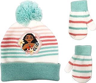 Moana Girls Toddler Girls Beanie Winter Hat and Mittens...