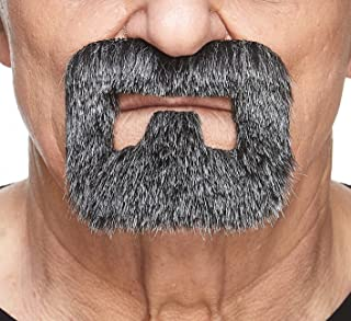 Mustaches Self Adhesive, Novelty, Inmate Fake Beard, False Facial Hair, Costume Accessory for Adults