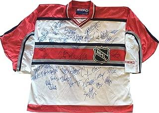 2001 NHL All Star Game Multi Signed Jersey 43 Autographs Wayne Gretzky Mario Lemieux Patrick Roy Bobby Hull JSA