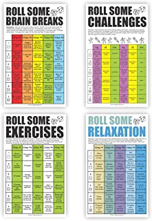 Brain Breaks Poster Set for The Classroom - Movement and Learning, Sensory, Indoor Recess, PE