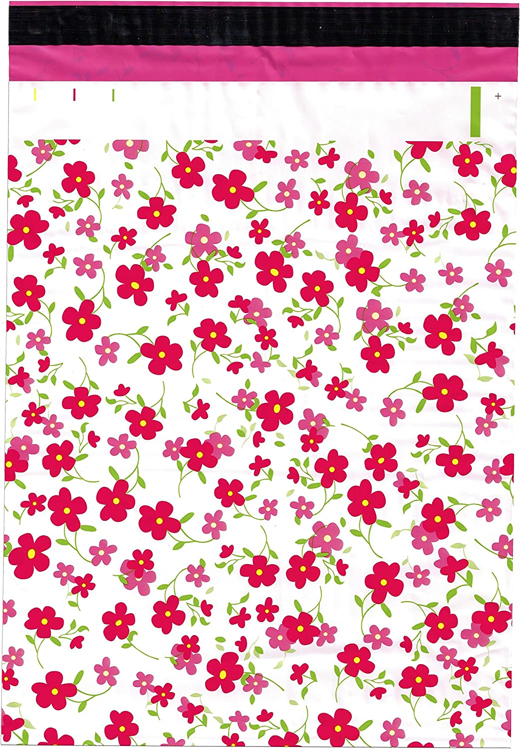 10x13 100 Ranking TOP18 Pink 2021 Flowers Designer Shipping Envelope Poly Mailers