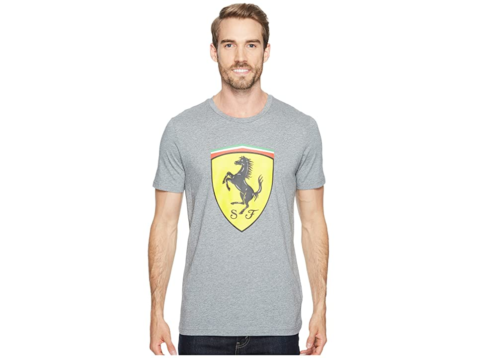 PUMA SF Big Shield Tee (Medium Gray Heather) Men