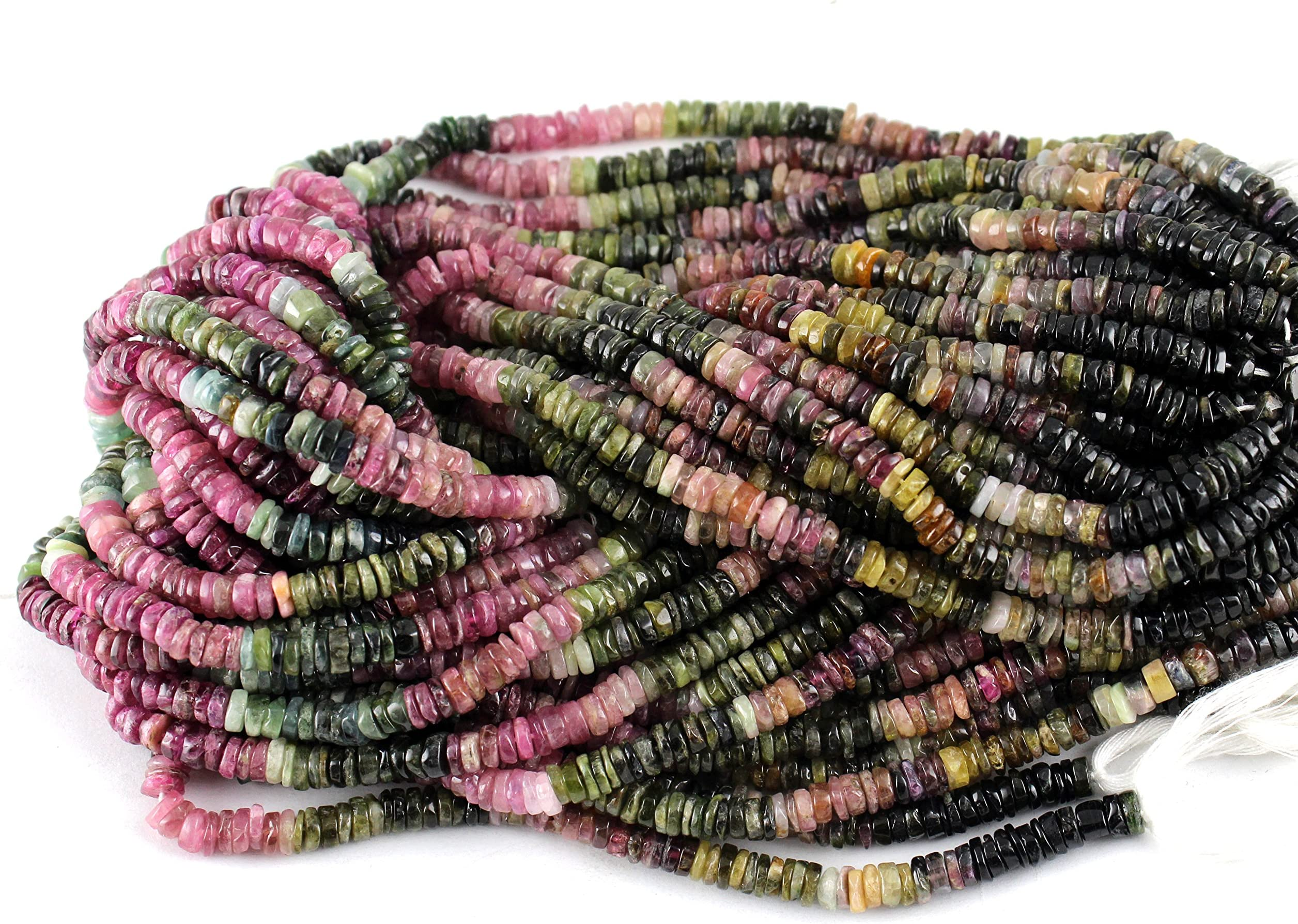 Natural Pink Tourmaline Beads Full Strands-15.5 inches-2mm High Facets Nice Size Hole Diamond Cutting Faceted Round Nice and Sparkly