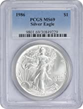 1986 $1 American Silver Eagle, MS69, PCGS