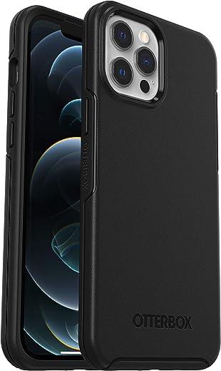 حافظة حماية من سلسلة سيمتري لهاتف ايفون 12 برو ماكس من اوتربوكس - لون اسود