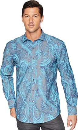 Shaped Fit Vintage Paisley Woven Shirt