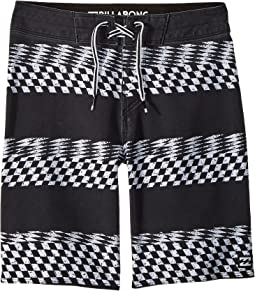 Sundays X Stripe Boardshorts (Big Kids)
