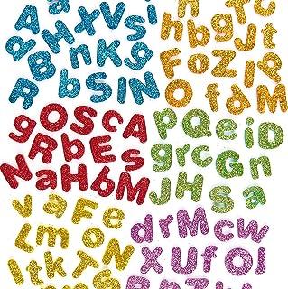 Baker Ross Lettres de l'alphabet en mousse autocollante et pailletée (lot de 850) - Matériel créatif pour enfants et adultes.