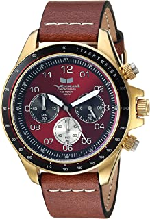 Vestal ZR2 Leather Stainless Steel Japanese-Quartz Watch with Strap, Brown, 20 (Model: ZR243L21.LBWH