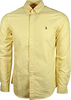 Polo Mens Classic Fit Buttondown Oxford Shirt (BSR Yellow, Small)