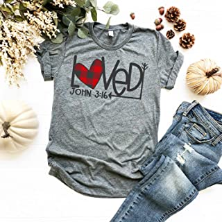 3253652c5 Christian T-Shirt for Women & Teens | Plaid Heart | Valentine Gift for Women