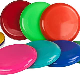 SchwabMarken 10 Frisbee, Flying Disc in 10, Frisbees Colourful Mixed and Sold, Not for Dogs!