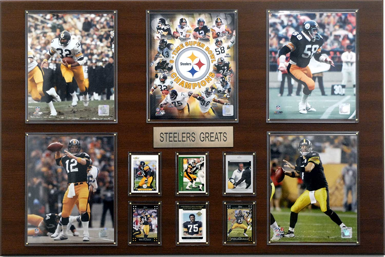 NFL Pittsburgh Steelers Greatest Star Plaque