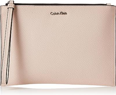 Calvin Klein Damen Edit Pouch Taschenorganizer Silber (Shiny Gunmetal)