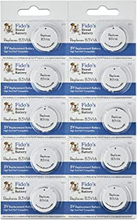 High Tech Pet Compatible Electronic Collar Battery 10 Pack for Model MS-4 and MS-5 by Fido's