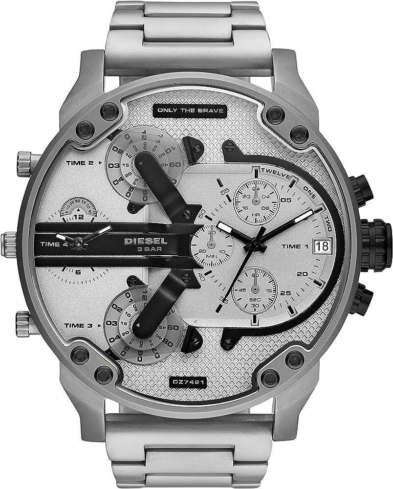 diesel orologio cronografo da uomo in acciaio inossidabile dz7421