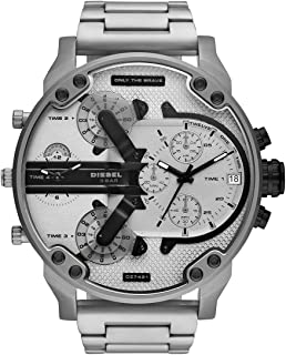 Diesel Mr Daddy 2.0 Men's Silver Dial Stainless Steel Analog Watch - DZ7421