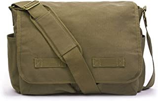 Classic Messenger Bag – Vintage Canvas Shoulder Bag for All-Purpose Use
