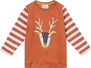 Piccalilly Haut renne avec rayures en jersey de coton doux, design unisexe pour filles et garçons