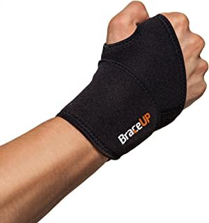 BraceUP® Adjustable Wrist Support, One Size Adjustable (Black), 1 PC