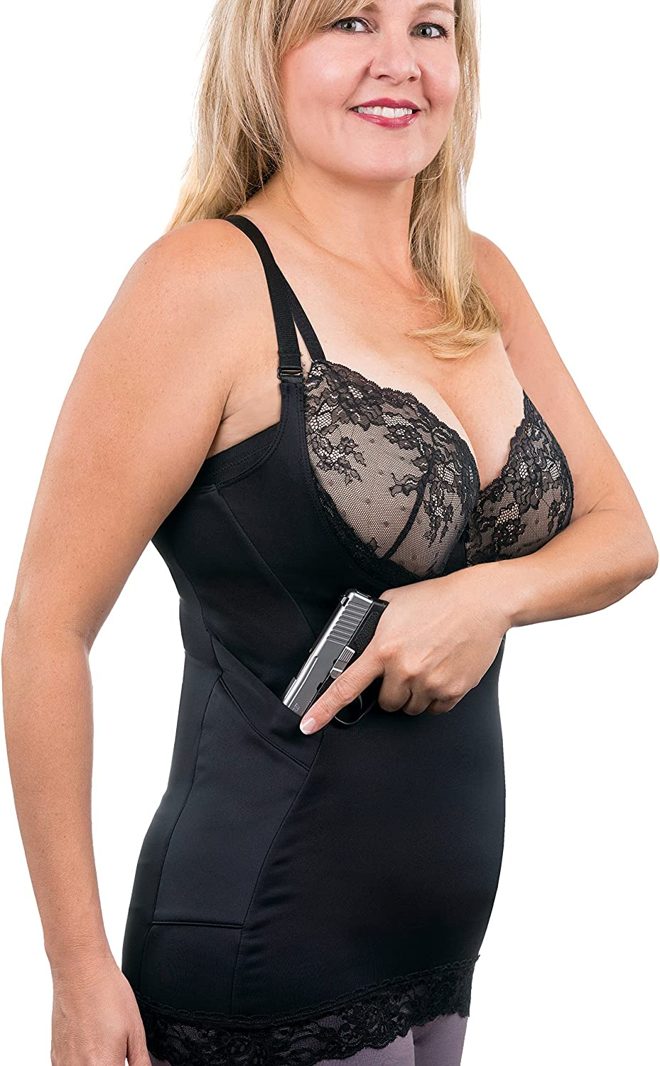 Nickel and Lace Luxe Lace Compression Women's Concealed Carry Camisole