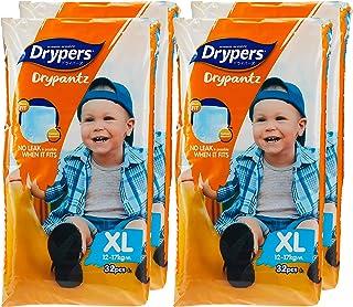 Drypers Drypantz Diapers, XL (12-17kg), 32ct (Pack of 4)