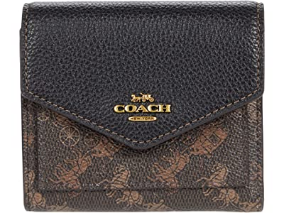 COACH Horse and Carriage Coated Canvas Small Wallet