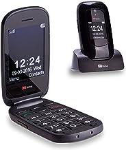 TTfone Lunar TT750 Big Button Simple Easy Clamshell Unlocked Flip Mobile Phone - Black