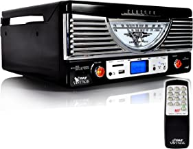 Pyle Vintage Turntable – Retro Vinyl Stereo System With Bluetooth, USB Reader, SD..