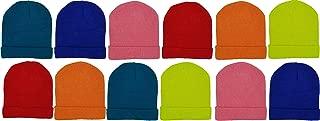Kids Winter Beanies, 12 Pack Warm Cold Weather Hats Boys Girls Children Gift