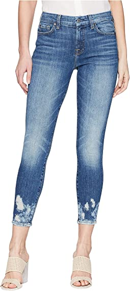 7 For All Mankind - The Ankle Skinny w/ Bleach & Holes at Hem in Desert Oasis 2