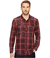 John Varvatos Star U.S.A. - Plaid Snap Front Workwear Shirt