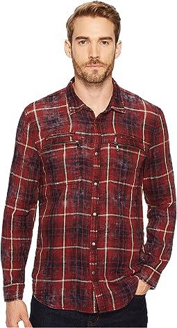 John Varvatos Star U.S.A. - Plaid Snap Front Workwear Shirt