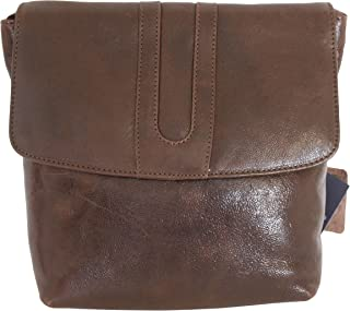 Leather Guild Design Studio Pell Mell Rhona Brown Leather Cross Body Purse Bag
