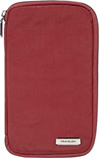Travelon Women's RFID Blocking Family Passport Zip Wallet, Poppy, One Size