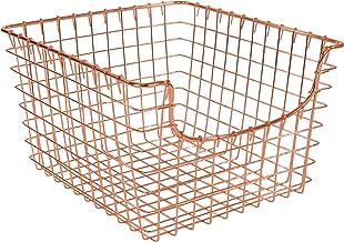 Spectrum Diversified Scoop wire Storage Basket, Medium, Copper