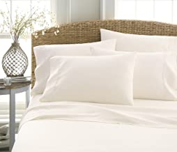 Becky Cameron Luxury Soft Deluxe Hotel Quality 6 Piece Bed Sheet Set, Queen, Ivory