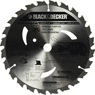 BLACK+DECKER Pr824 24T 7-1/4-Inch Carbide Saw Blade