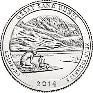 2014 D America The Beautiful Great Sand Dunes Quarter Choice Uncirculated