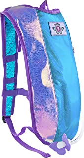 Dan-Pak Hydration Pack 2l- Plurmaid -Mermaid Scales Rave Backpack Blue and Purple Shiny Bag