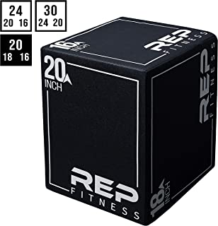 REP FITNESS 3 in 1 Soft Plyometric Box or Assembled 3-in-1 Wood Plyo Box for Jump Training and Conditioning